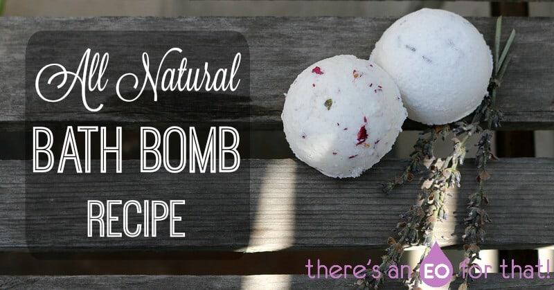 DIY bath bomb recipe using essential oils.