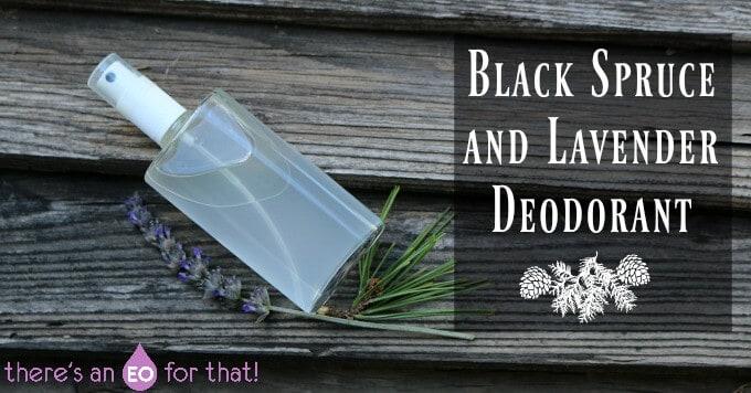 Black Spruce and Lavender Deodorant