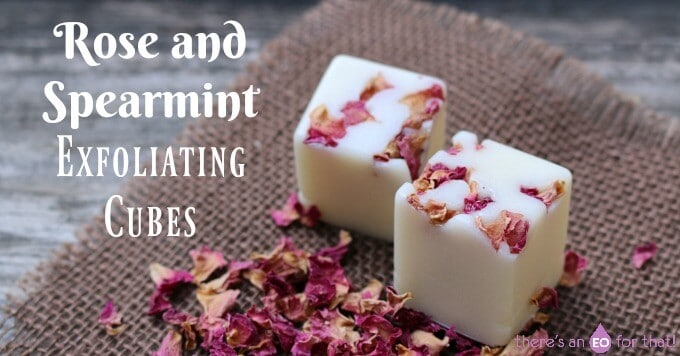 Rose and Spearmint Exfoliating Cubes