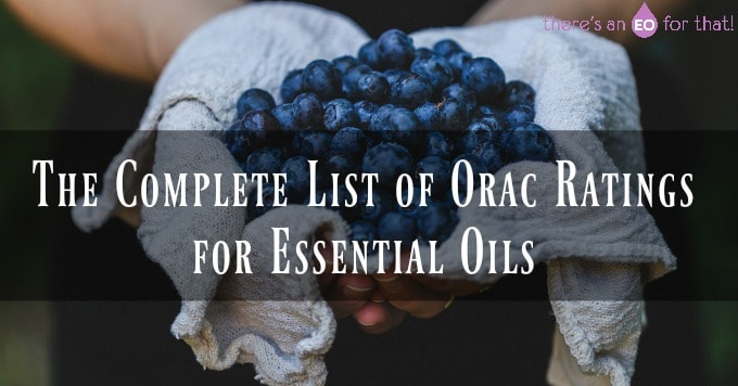 The Complete List of Orac Ratings for Essential Oils