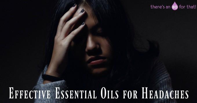 Effective Essential Oils for Headaches - girl with a headache.