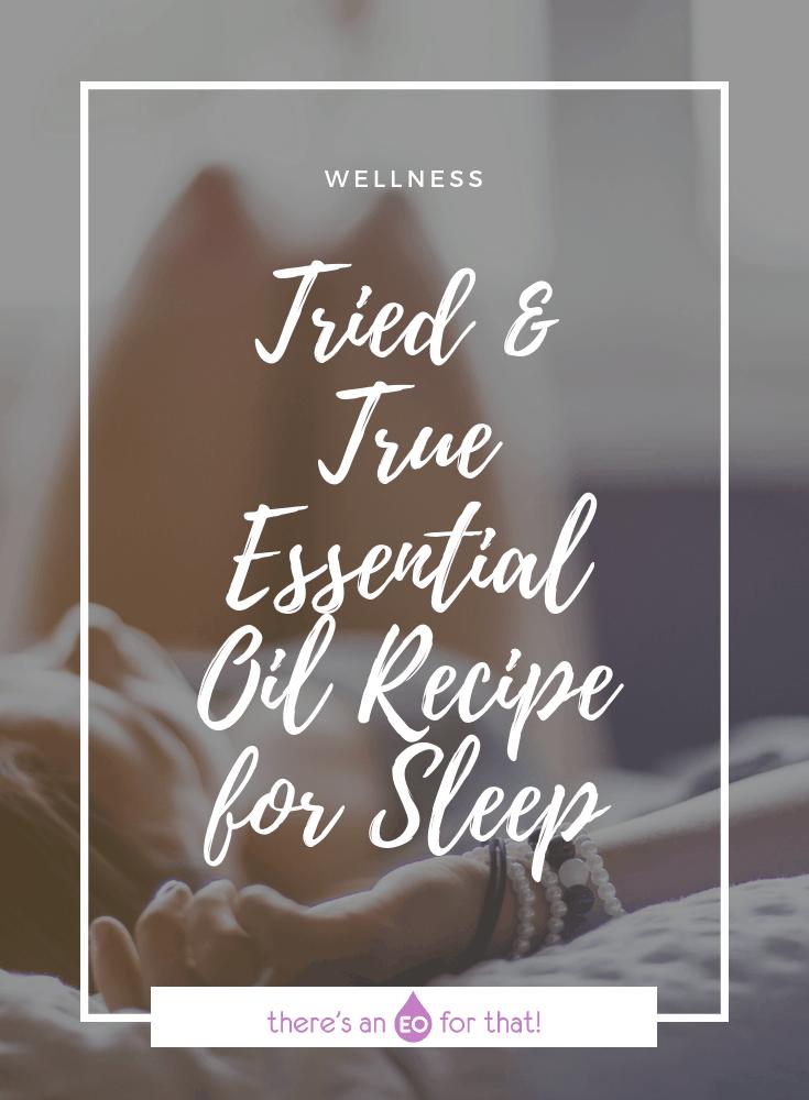 The Best Essential Oil Recipe for Sleep - Girl falling asleep.