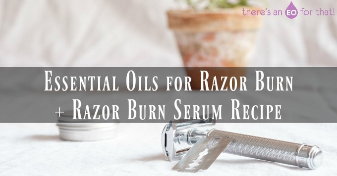 Essential Oils for Razor Burn + Razor Burn Serum Recipe - Photo of a stainless steel razor